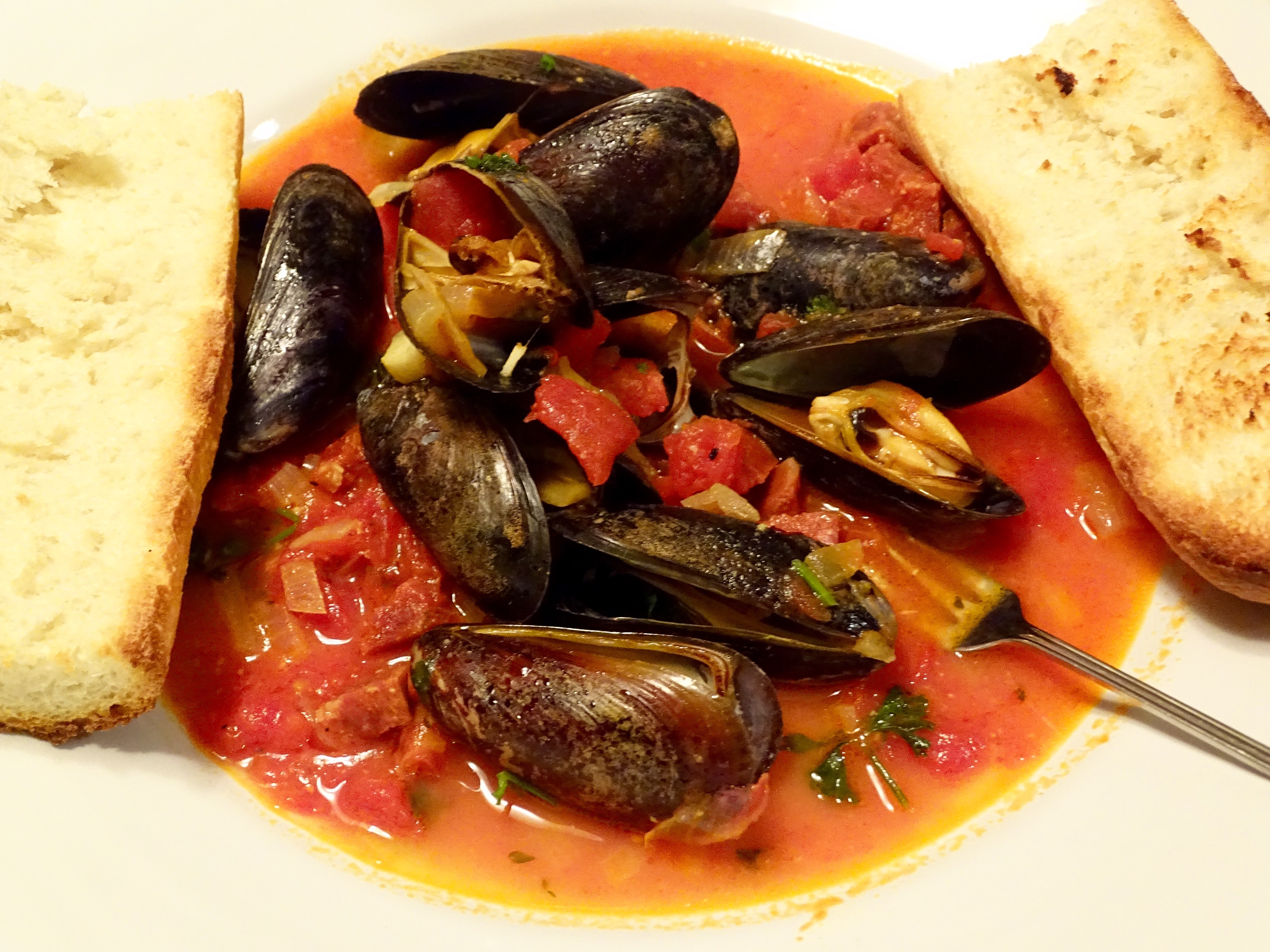 Steamed Mussels in a Tomato, Chorizo, and Saffron Broth | In ...
